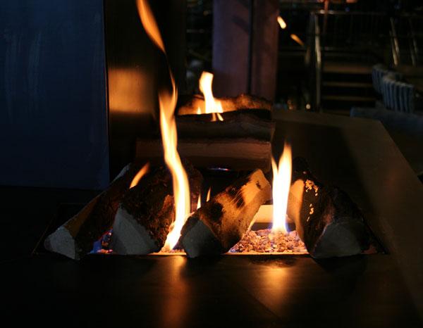 Gasspeis har en rolig og stille flamme. Foto.